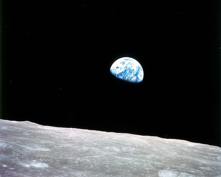 Widok Ziemi z Księżyca