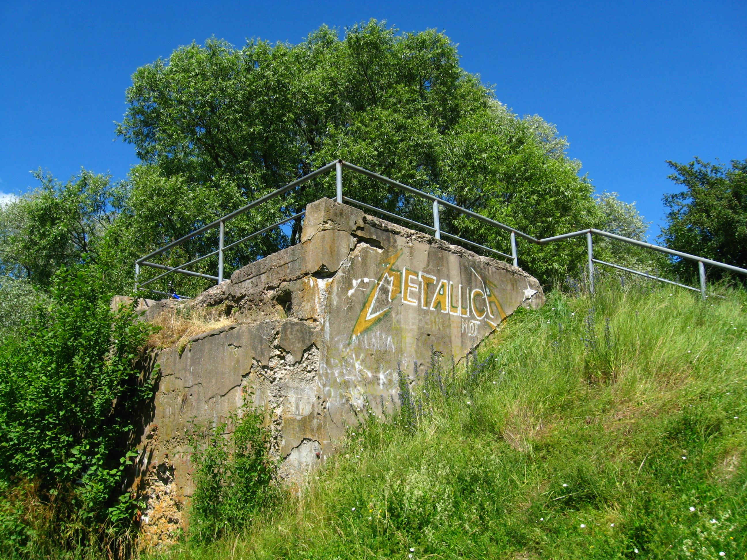 Przyczółek zerwanego mostu w Kruszewie