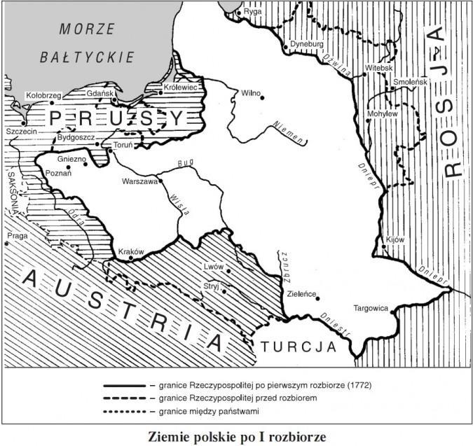 Ziemie polskie po I rozbiorze