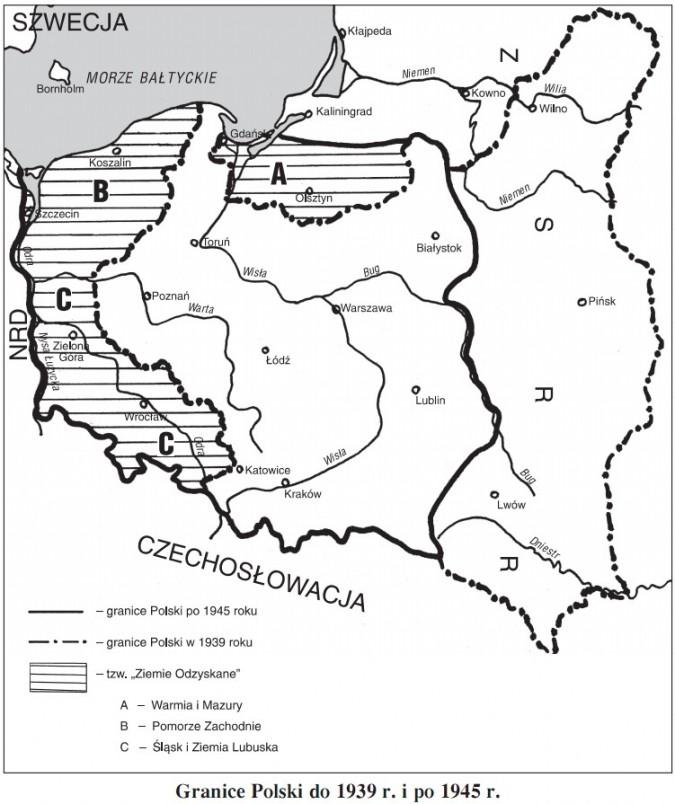 Granice Polski do 1939 r. i po 1945 r.