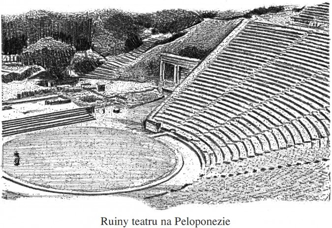 Ruiny teatru na Peloponezie