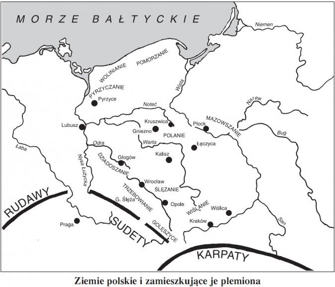Ziemie polskie i zamieszkujące je plemiona