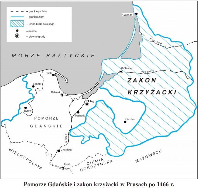 Pomorze Gdańskie i zakon krzyżacki w Prusach po 1466 roku