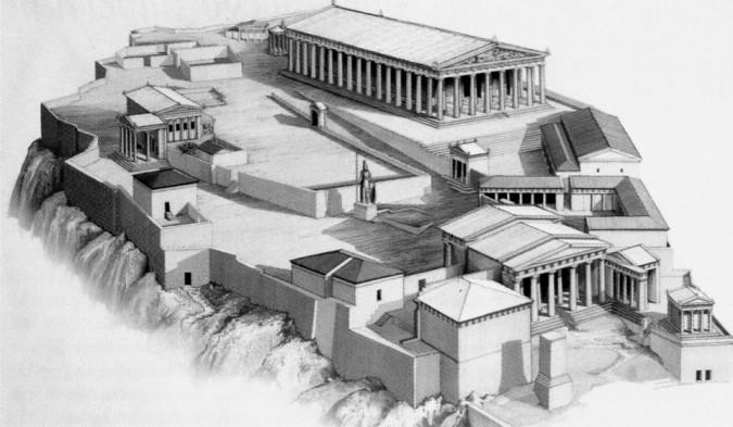 Współczesna rekonstrukcja ateńskiego Akropolu