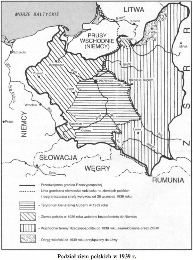 Podział ziem polskich w 1939 roku