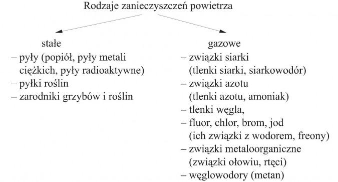 Zanieczyszczenia powietrza - Chemia - Opracowania.pl
