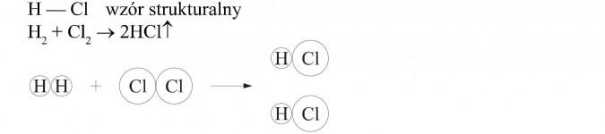 Kwas chlorowodorowy (solny). Wzór strukturalny.