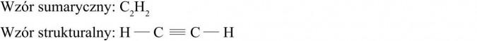 Etyn - pierwszy przedstawiciel rodziny alkinów. Wzór sumaryczny, wzór strukturalny.