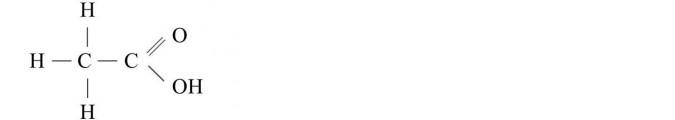 Charakterystyka kwasów karboksylowych. Kwas etanowy (octowy) - wzór strukturalny.