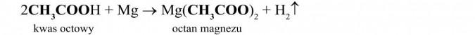Właściwości chemiczne kwasów karboksylowych. Kwas octowy. Octan magnezu.