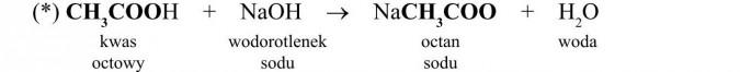 Właściwości chemiczne kwasów karboksylowych. Kwas octowy, wodorotlenek sodu, octan sodu, woda.