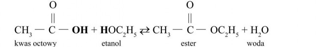 Estry. Kwas octowy, etanol, ester, woda.