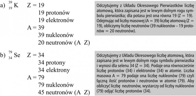 Znalezione obrazy dla zapytania: położenie pierwiastka w układzie okresowym a budowa atomu